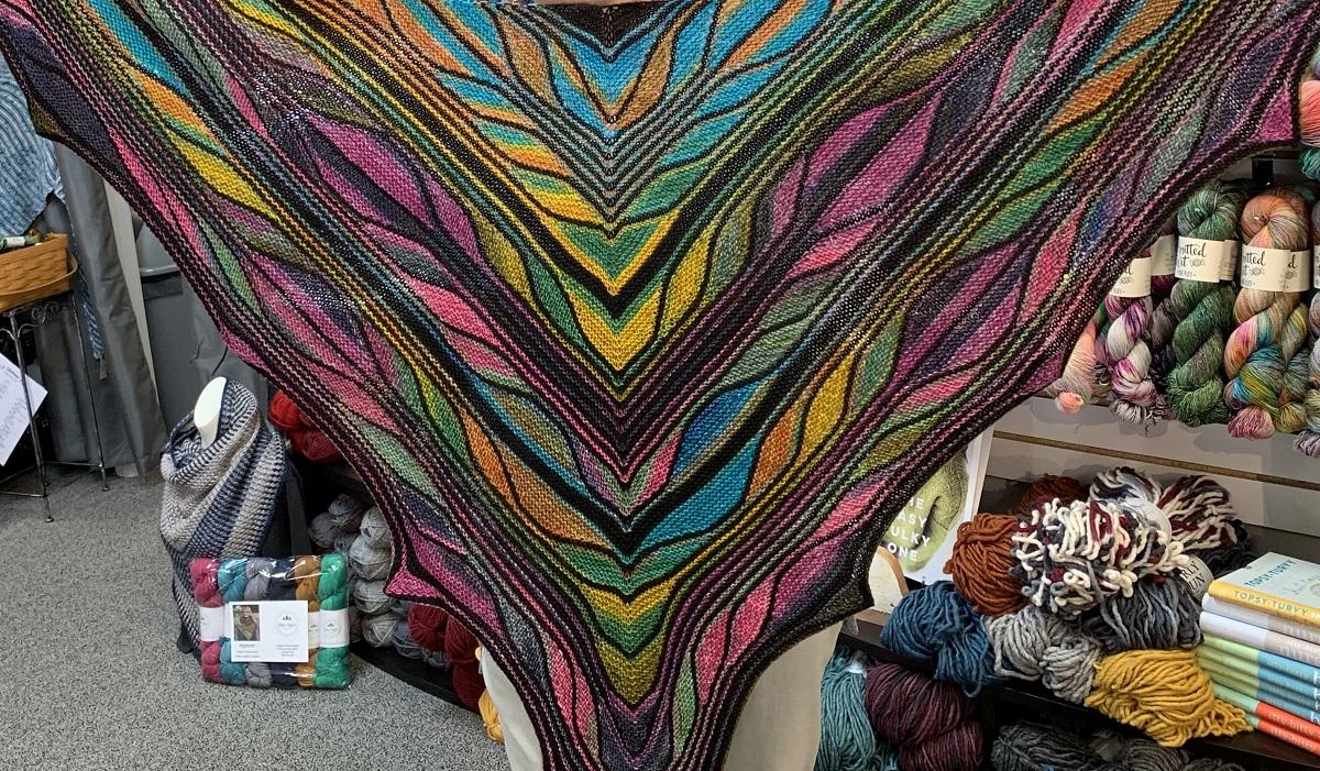 Butterfly Shawl ImagiKnit Yarn Shop Omaha