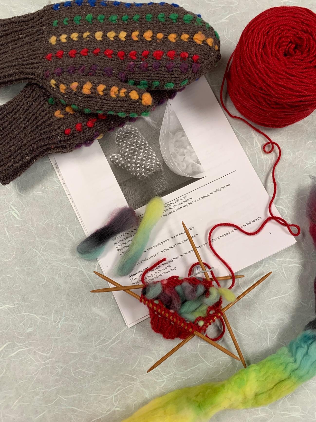 Thrummed Mittens knitting class ImagiKnit Yarn Shop Omaha